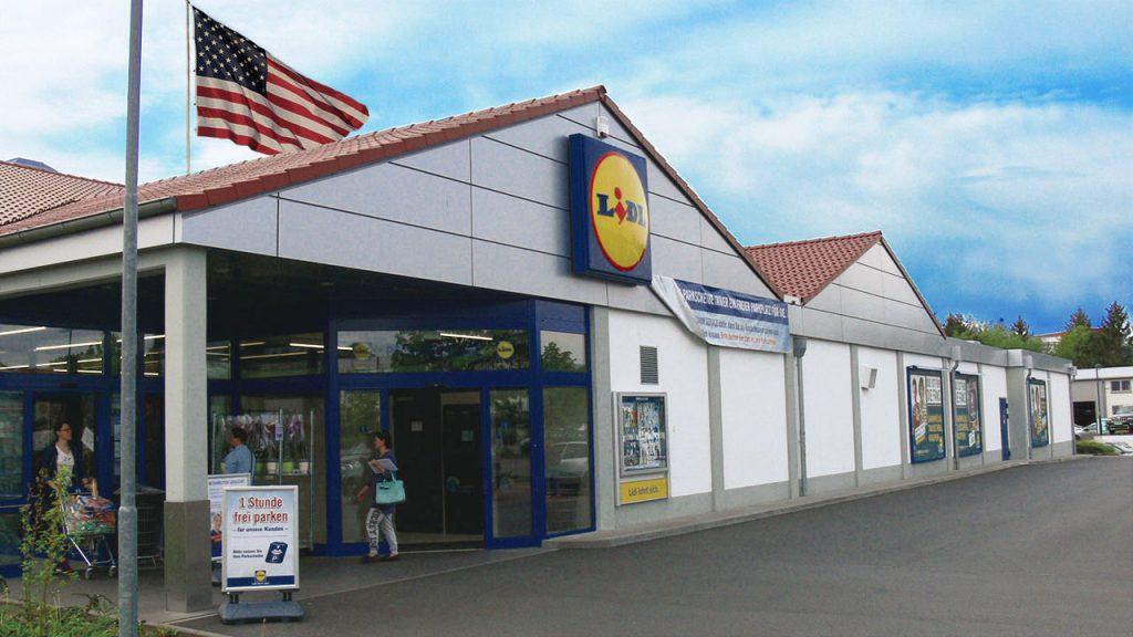 German Lidl Store USA